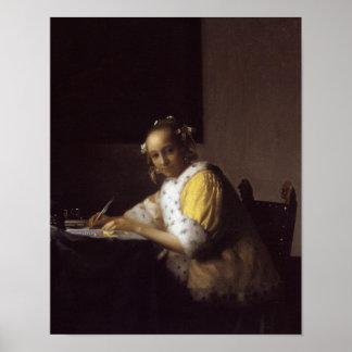 Una señora Writing Poster