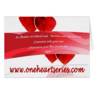 Una serie del corazón (r) felicitación