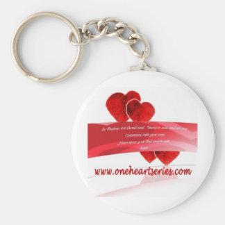 Una serie del corazón (r) llaveros personalizados