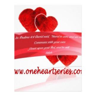 Una serie del corazón r membrete a diseño