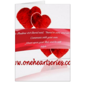 Una serie del corazón (r) tarjeta