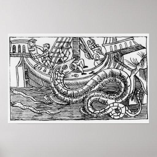 Una serpiente de mar póster