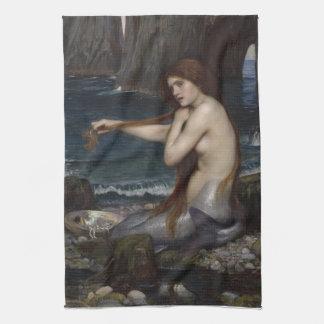 Una sirena de John William Waterhouse Toalla De Cocina