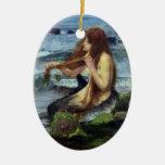 Una sirena (estudio) ornamento de navidad