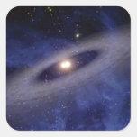 Una Sistema Solar lejana Pegatina Cuadrada
