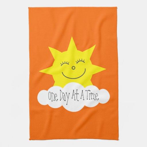Una sobriedad feliz de Sun del día a la vez Toallas De Mano
