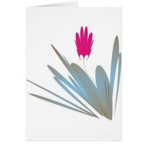 Una sola flor es artículos tan potentes del regalo tarjeton
