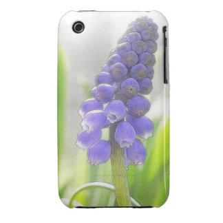Una sola floración del jacinto de uva funda para iPhone 3