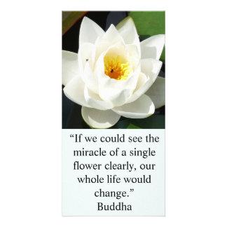 Una sola tarjeta de la flor blanca tarjetas fotográficas