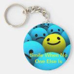 Una sonrisa llavero personalizado
