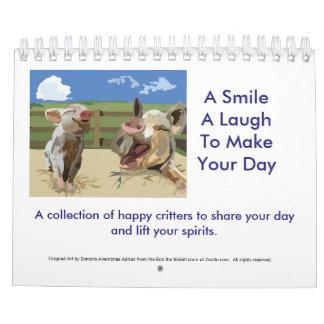 Una sonrisa, una risa, encender su día 2016 calendarios de pared