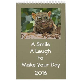 Una sonrisa, una risa, encender su día 2016 de calendarios de pared