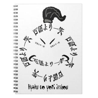 Una sonrisa vale proverbio del japonés de mil pala libretas espirales