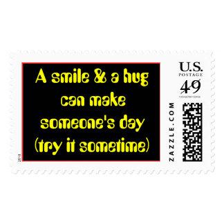 Una sonrisa y un abrazo pueden hacer alguien día… envio