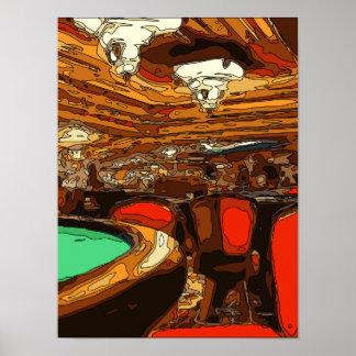 Una tabla de Black Jack en el corazón de un casino Impresiones