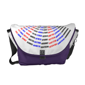 una tabla de multiplicación para el cómputo de la bolsas de mensajeria