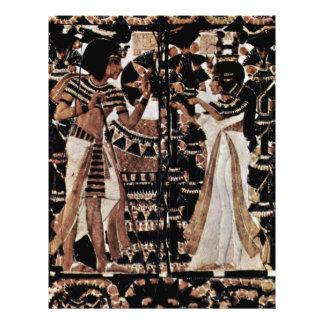 Una tapa del tronco hecha de la marfil por Ägypti Tarjetas Informativas