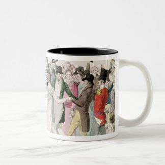 Una tarde en el Tuileries en julio de 1815 Taza De Dos Tonos
