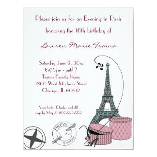 Una tarde en la invitación del fiesta de París