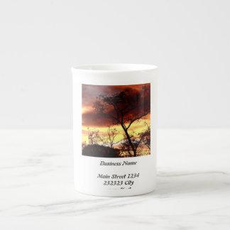 Una tarde especial taza de porcelana
