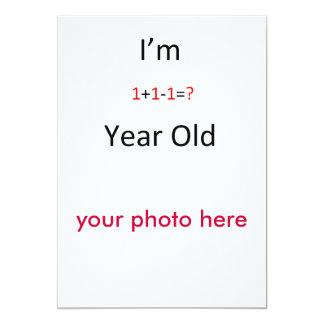 """una tarjeta año invitación 5"""" x 7"""""""