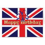 Una tarjeta de cumpleaños con Union Jack