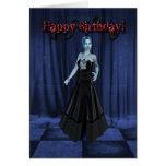 Una tarjeta de cumpleaños del vampiro