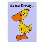 Una tarjeta de cumpleaños Ducky divertida
