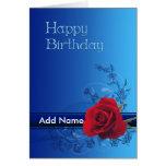 Una tarjeta de cumpleaños floral adaptable