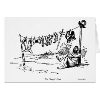 Una tarjeta de felicitación de la caricatura del v