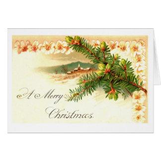 Una tarjeta de felicitación de las Felices Navidad