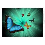 Una tarjeta de felicitación del viaje de Butterfly