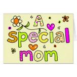 Una tarjeta de felicitación especial de la mamá