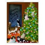 Una tarjeta de felicitación grande del navidad fel
