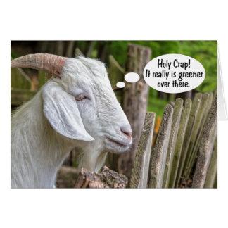 Una tarjeta de felicitación más verde de la cabra