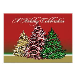 Una tarjeta de la invitación de la celebración del