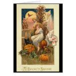 Una tarjeta de la pesadilla de Halloween