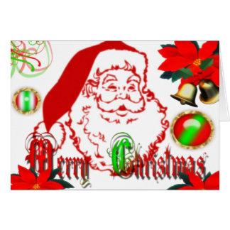 Una tarjeta de las Felices Navidad muy