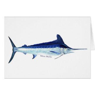 Una tarjeta de los pescados de la aguja blanca