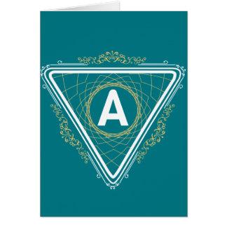 Una tarjeta de Mnogram, sobres blancos estándar