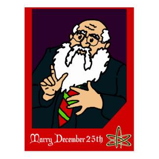 Una tarjeta de Navidad atea Postal