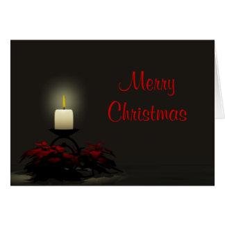 Una tarjeta de Navidad de la vela del navidad