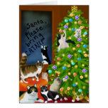 Una tarjeta de Navidad felina de la familia