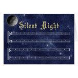 Una tarjeta de Navidad silenciosa de la noche