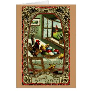 Una tarjeta de pascua feliz