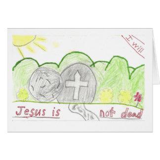 Una tarjeta de pascua hermosa hecha por mi nieto