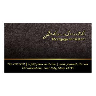 Una tarjeta de visita de cuero más oscura del agen