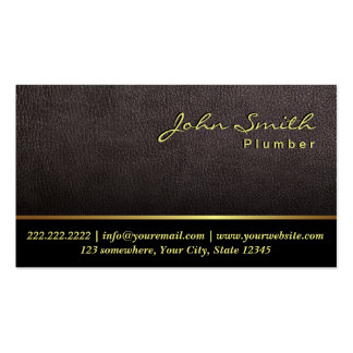 Una tarjeta de visita de cuero más oscura del font