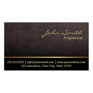 Una tarjeta de visita de cuero más oscura del prog