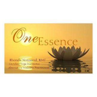 Una tarjeta de visita de la esencia